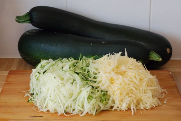 Grated Zucchini & Sweed for a wild ferment