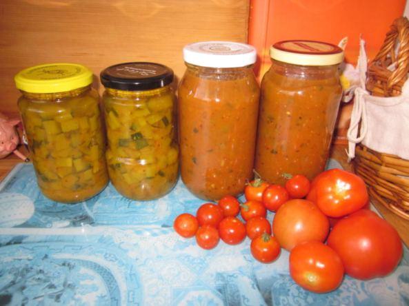 Zucchini n cherry tomato relish